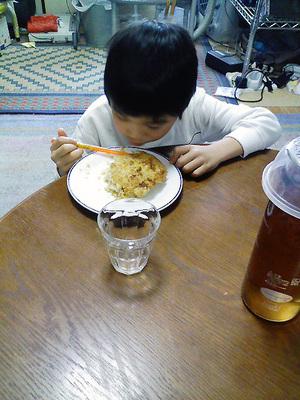 ご飯焼き(試食中)